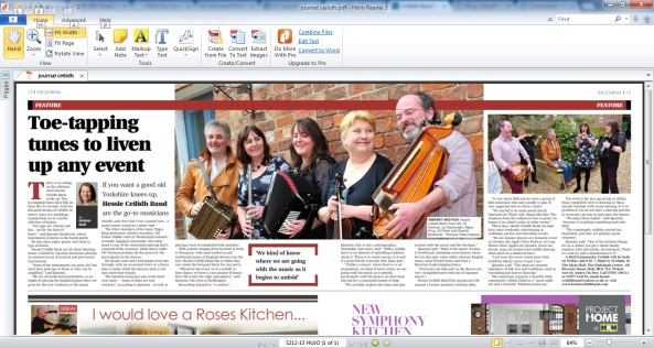 Hessle ceilidh band journal article
